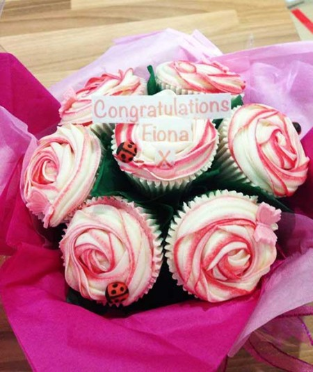 cupcake bouquet congratulations