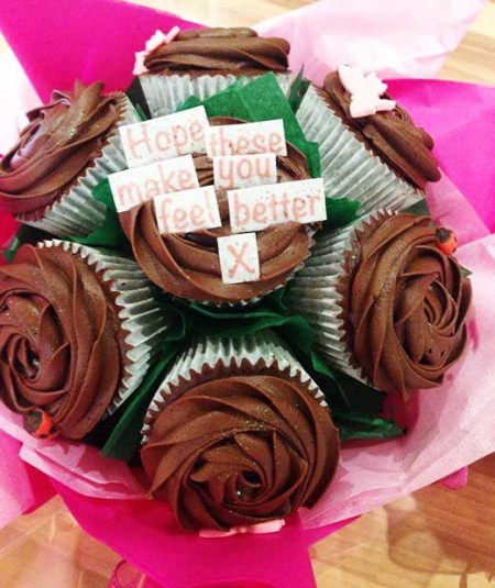 cupcake bouquet feel better