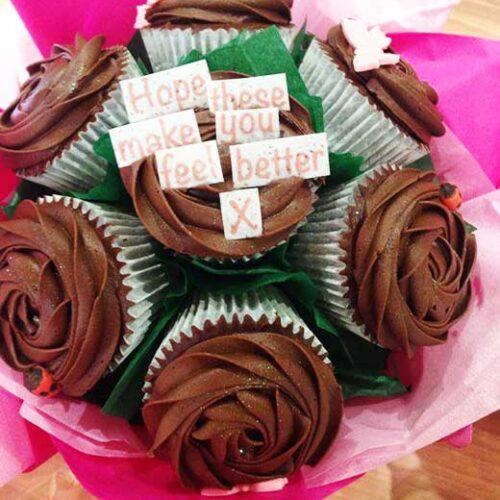 cupcake bouquet feel better