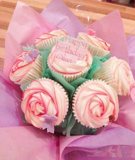 cupcake bouquet happy birthday