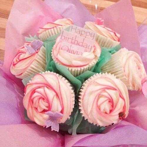 cupcake bouquet happy birthday