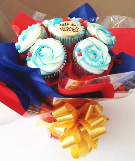cupcake bouquet help for heroes