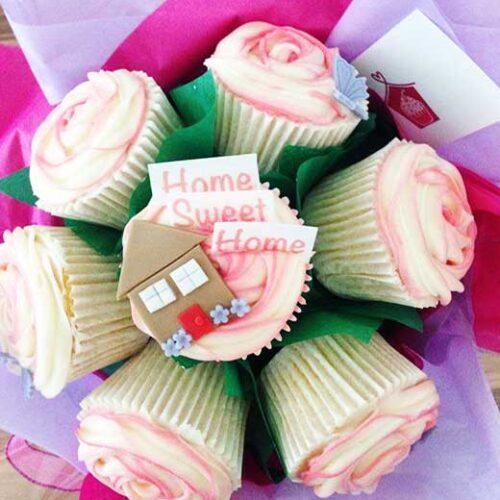 cupcake bouquet home sweet home