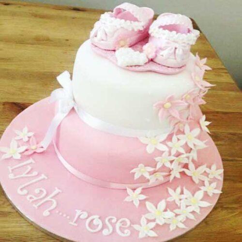 pink-christening-cake