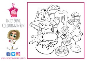 corner house cakes yummy cakes colouring in