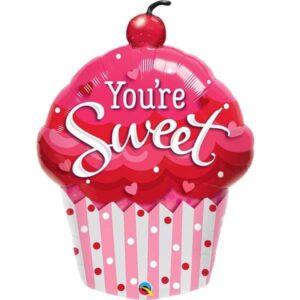 Valentine Cupcake Balloon