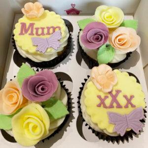 Mums Flowers Cupcake Box Corner House Cakes